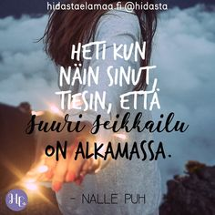 """Kiitos, että muistutit minua siitä, miltä tuntuvat perhoset vatsassa"" – 5 voimakuvaa rakkaudesta Finnish Words, Wednesday Humor, Boho Beautiful, Boyfriend Quotes, Love Messages, Positive Vibes, Motivational Quotes, Wisdom, Positivity"