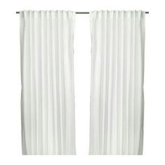 IKEA vivan white curtains No rips tears or stains 9 panels 57 x 98.5 ikea Other