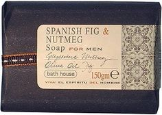 Spanish Fig & Nutmeg Soap for Men By Bath House, 5 Oz (150gm) by Bath House. $8.36. NEW IN RETAIL PACKAGING. FOR MEN. 5 OZ (150 GM) BAR SOAP. MADE WITH GLYCERINE, NUTMEG, OLIVE OIL AND FIG. MADE IN UK BY BATH HOUSE. Spanish Fig & Nutmeg by Bath House Soap 5 oz