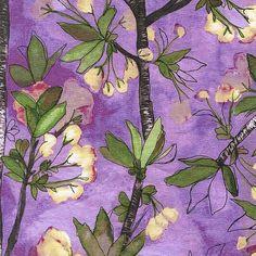 SALE $7/yd Michael Miller Vignette Cherry Bloom by comfortandjoyfabrics