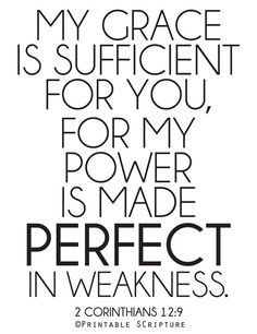 My Grace is Sufficient. 2 Corinthians 12:9. 8x10 DIY Printable Christian Poster. PDF. Bible Verse.. $6.50, via Etsy.