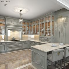 Classic Style Kitchen Furniture Timeless Furniture For Your Home Modern Kitchen Cabinets, Kitchen Cabinet Design, Interior Design Kitchen, Kitchen Furniture, Kitchen Decor, Grey Cabinets, Elegant Kitchens, Luxury Kitchens, Beautiful Kitchens