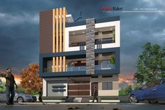 Ideas House Facade Modern Floor Plans For 2020 House Architecture Styles, Innovative Architecture, Architecture Plan, Railing Design, Facade Design, Exterior Design, House Front Design, Modern House Design, Modern Houses