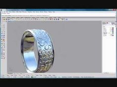 ▶ Rhino tutorial making a basic tiled texture ring - YouTube