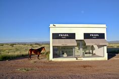 On Route 90 in Texas, 60 km from the nearest town of Marfa with just 2,500 residents, like a mirage in the desert, you'll find Prada Marfa, a permanently installed sculpture built to mimic the luxury brand's trademark boutique. It was built and revealed to the public in 2005 by artists Elmgreen and Dragset, housing genuine Prada shoes and handbags, personally selected by Miucca Prada herself from the fall/winter 2005 collection.