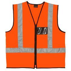 Orange Reflective Vest #reflectivevest #safety #safetywear #workwear #reflective