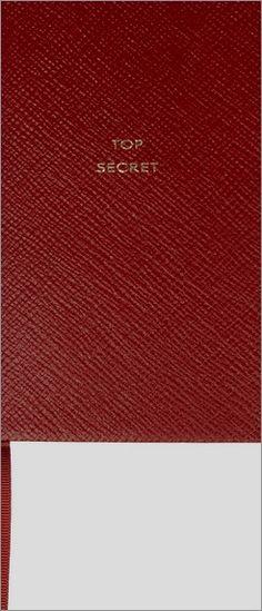 Smythson Top Secret Textured-Leather Notebook - http://officedesksbuy.com/smythson-top-secret-textured-leather-notebook.html