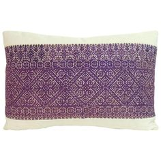 19th Century Moroccan Embroidery Textile Decorative Bolster Pillow | From a unique collection of antique and modern textiles at https://www.1stdibs.com/furniture/more-furniture-collectibles/textiles/