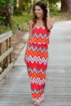 817c7e890ef Sunset Drive Chevron Strapless Maxi Dress Shop SMB Simply Me – Simply Me  Boutique