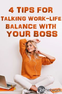 Compiled 4 tips for having a productive conversation with your boss or manager about work-life balance. Time Management Printable, Job Interview Tips, Interview Techniques, Career Advice, Job Career, Career Path, Work Life Balance Tips, Work Productivity, Working Mom Tips