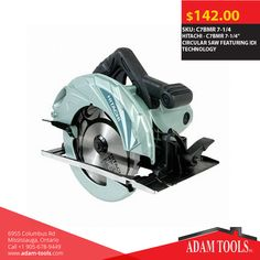 """Now available at Adam tools with great price HITACHI - C7BMR 7-1/4"""" CIRCULAR SAW FEATURING IDI TECHNOLOGY Visit our website for more information and special offers ...  https://www.adam-tools.com/c7bmr-7-1-4-circular-saw-featurin… #canada #mississuaga #power_tools #building_supplies #Shopping #powertools #contractors #subcontractors #construction #Hitachi #C7BMR #CIRCULARSAW"""