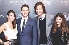 Danneel and Jensen Ackles, Jared and Genevieve Padalecki