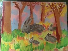 acrylic painting/bunnies Lydia Sutton