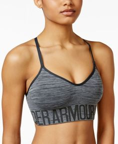 Yoga class has never been as comfortable as it is with this low-impact sports bra from Under Armour, made with space-dyed fabric for a fresh look.   Nylon/polyester/spandex   Machine washable   Import
