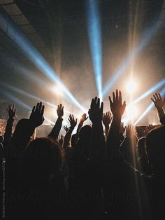 Hands Raised at Live Concert by B. Harvey for Stocksy United # concert Worship Wallpaper, Worship Backgrounds, Worship Night, Praise And Worship, Jesus Is Life, Christian Wallpaper, Music Aesthetic, Concert Photography, Laura Lee