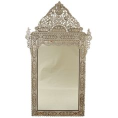 Palatial Middle Eastern Mirror | From a unique collection of antique and modern wall mirrors at http://www.1stdibs.com/furniture/mirrors/wall-mirrors/