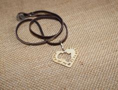 Part Of My Heart Is In Africa Necklace