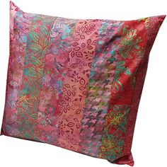 14 inch Pillow Sham Cover in Pink Batik Fabrics by Sieberdesigns