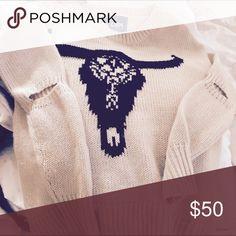 Lira Originals business skull sweater New! Sweaters Crew & Scoop Necks