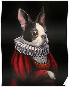 A dear friend has a darling little Boston Terrier named Daisy, and I just had to paint her. The portrait itself took on a life of its own, though, and I wanted to share it with all of you dog enthusiasts! Boston Terrier Rescue, Baby Boston Terriers, Boston Terrier Names, Boston Terrier Love, British Mastiff, Boston Art, Daisy, Bully Dog, Cute Funny Animals