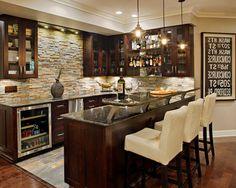 Diy Basement Bar Ideas Home Bar Traditional With Undercabinet Lighting  Undercabinet Lighting Stone Backsplash