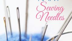 The right sewing machine needle for the job means you will get a professional looking seam every time. EASY guide to sewing machine needle sizes & types. Sewing Kit, Sewing Hacks, Sewing Tutorials, Sewing Needle Sizes, Sewing Needles, Hand Sewing Projects, Sewing Leather, Needles Sizes, Hands