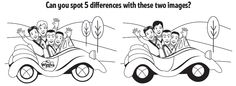 Childtime and The Wiggles want your child to help spot the differences in these drawings! #kid #activity