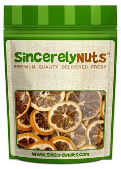 Sincerely Nuts Natural Dried Lemon Slices - Two (2) Lb. Bag - Genuine Lemon Slices - Appetizingly Flavorful - High In Vitamins - Amazingly Fresh - Kosher Certified! -- Hurry! Check out this great item : Fresh Groceries