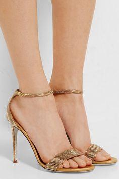 585ac78d9f8d24 René Caovilla - Swarovski crystal-embellished satin sandals
