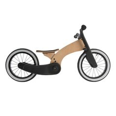 Wishbone Bike Cruise is a balance bike mash-up, designed for stylin' pre-schoolers who are ready to ride. Inspired by the custom motorcycle scene, Wishbone Cruise is a uniquely-styled first ride for children aged 2 years and up. Nachhaltiges Design, Bike Design, Miffy Lamp, Wood Bike, Wooden Scooter, Push Bikes, Custom Baggers, Balance Bike, Wood Toys