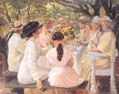Michael Ancher - Gratulanter 1911