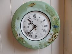 Gorgeous Antique French Toleware Kitchen Pendulum Clock. Antique French Clock…