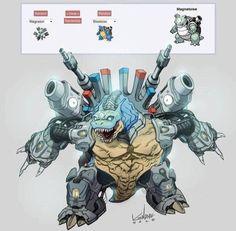 Pokemon | Blastoise | Magneton | Fusion
