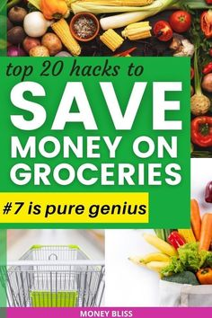 Here are the ways to save money on groceries from Money Bliss. Our grocery budget improved with the best way of #7 - that saved us thousands of dollars without coupons. Part of frugal living is learning how to save money on groceries. Use cash back apps to make money. Plan your dinner meals with these money saving tips! Download your free printable for stock up prices and meal planning calendar. | Money Bliss Save Money On Groceries, Ways To Save Money, Money Saving Tips, How To Make Money, Meal Planning Calendar, Money Plan, Digital Coupons, Grocery Items, Fresh Fruits And Vegetables