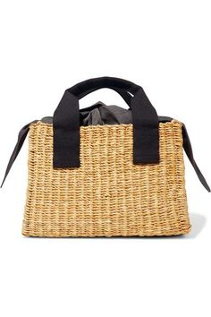 MUUN Ninon straw and cotton-canvas tote - AVAILABLE HERE: http://rstyle.me/n/cn64jtbcukx