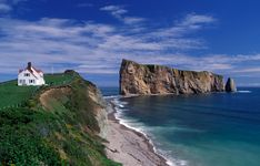 A stunning view of the gaspe perce rock in Quebec Canada royalty-free stock photo Canada National Parks, Parks Canada, Ocean Photos, Visit Canada, Travel Memories, Stunning View, Canada Travel, Places To See, Beautiful Places
