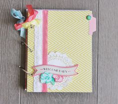 Maternity Journal Book Tutorial. Created using our Little Bo Peep Collection. Check it out! #cratepaper