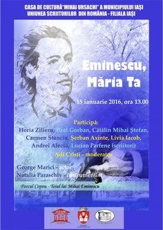 """""""Eminescu, Maria Ta"""" – aniversarea a 166 de ani de la nastere"""