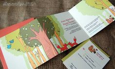 The Woodlands Trifold Wedding Invitation.. oh my word, that's adorable.