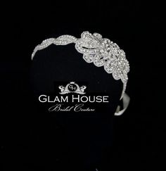 Bridal  Crystal Headband- Vintage Glam. $120.00, via Etsy.