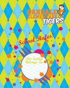 Tigers school folder School Folders, Community Organizing, I School, Tigers, Education, Onderwijs, Learning, Big Cats