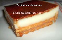 Κουζινοπαγίδα της Bana Barbi: Το γλυκό του Καπετάνιου Happy Foods, Greek Recipes, Sweet Treats, Recipies, Cheesecake, Sweet Home, Yummy Food, Sweets, Cooking