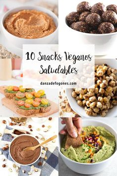 10 Snacks Veganos Saludables