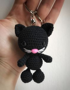 ❤️ #crochet #crocheting #amigurumi #doll #dolls #craft #handmade #handcrafted #cat #blackcat #meow #catoftheday #catlover #catlovers #black #pink #love #kitty #kittycat