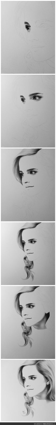Funny pictures about Incredible Drawing Of Emma Watson. Oh, and cool pics about Incredible Drawing Of Emma Watson. Also, Incredible Drawing Of Emma Watson photos. Sketch Painting, You Draw, Step By Step Drawing, Drawing Techniques, Drawing People, Love Art, Art Tutorials, Cool Drawings, Art Sketches