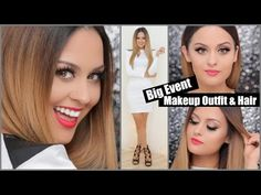 Big Event Makeup Hair and Outfit l Christen Dominique - YouTube