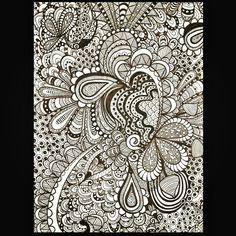 One of my latest doodles. Zentangle, zentangles, doodle.
