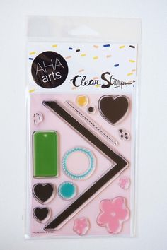 Stamp Set DIY Chevron and Tags by ashleyg on Etsy, $14.95