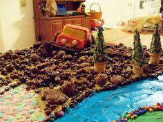 princess mud truck cake