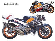 Honda NSR 500 Honda Motorbikes, Racing Motorcycles, Super Bikes, Concept Cars, Grand Prix, Wheels, Classic Motorcycle, Vehicles, Shirt Ideas